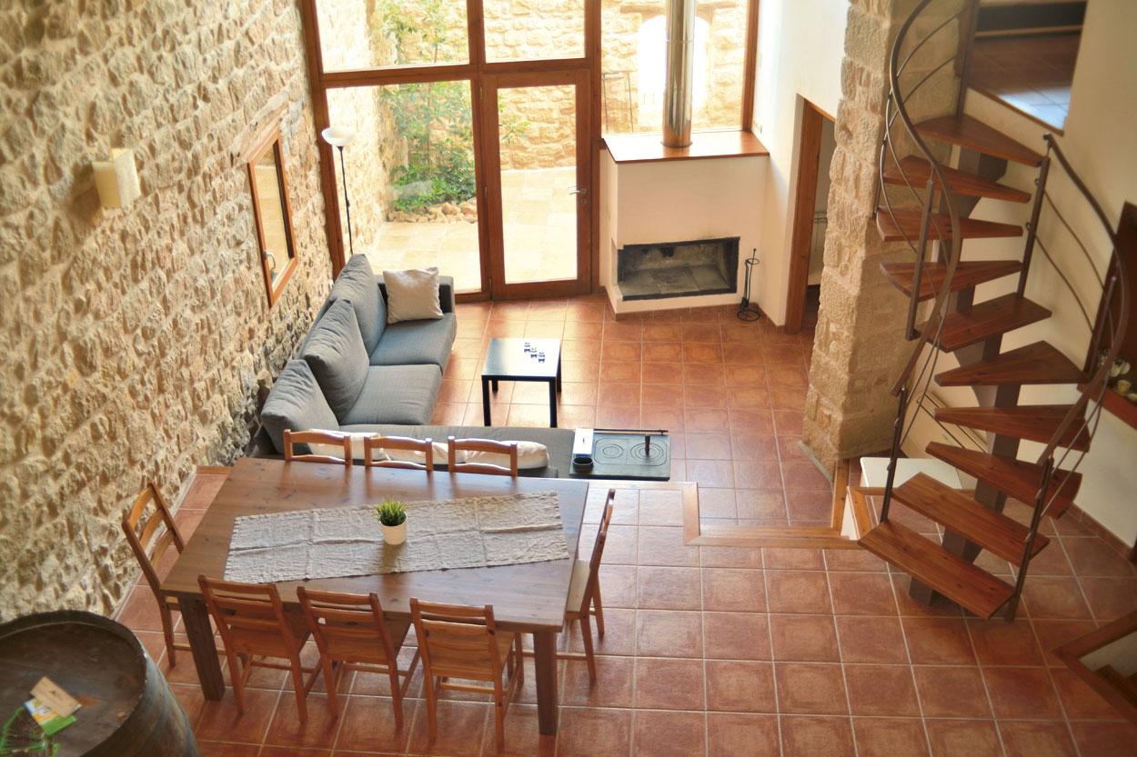 Sala menjador de la casa rural El Paller, prop de Vall-de-roures