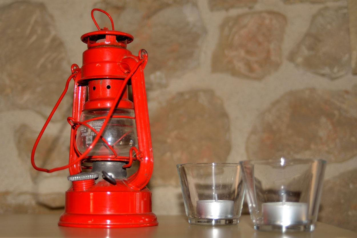 Detalle decorativo en la casa rural Les Roques